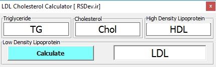 برنامه محاسبه LDL Calculator Ver 1.0.0