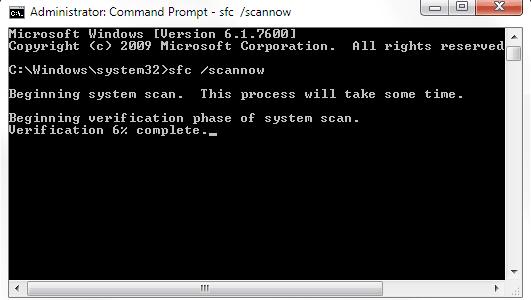بازسازی فایل های سیستمی ویندوز با استفاده از ابزار SFC خود ویندوز